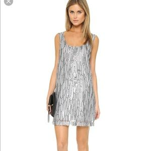 BB Dakota silver metallic tank dress - M